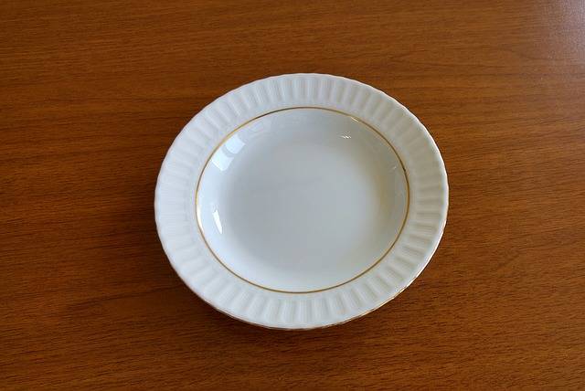 Porcelain Plate, Is Empty, White, Classic, Plate