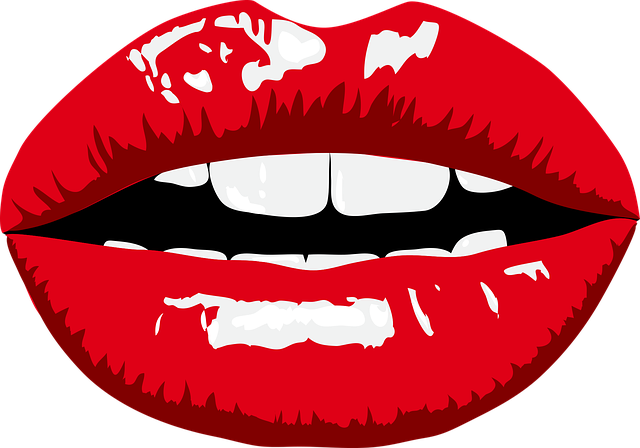 Lips, Lipstick, Mouth, Red, Teeth, White