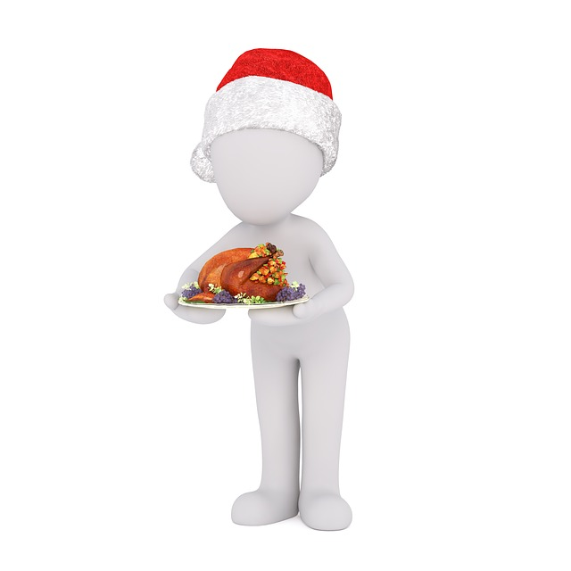 White Male, 3d Model, Full Body, 3d Santa Hat