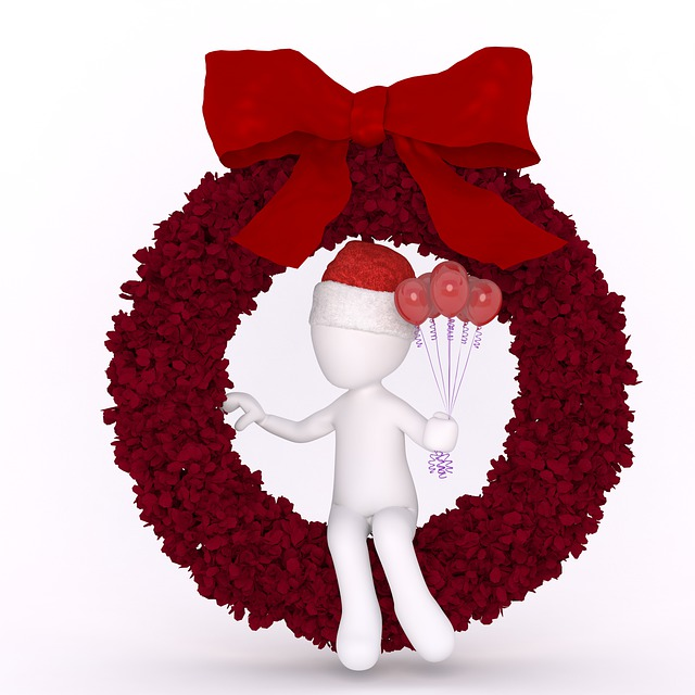 Christmas, Red, Christmas Wreath, 3d Male, White Males