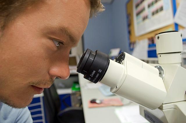 People, Scientist, Microscope, White, Chemistry
