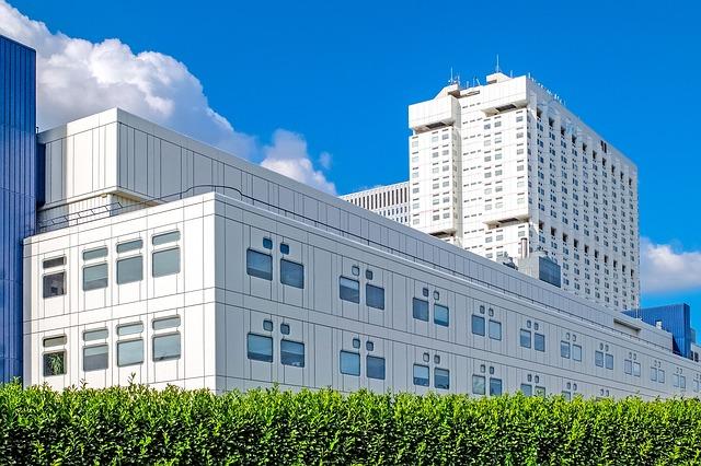 Building, Hospital, White, Modern, Construction, Urban
