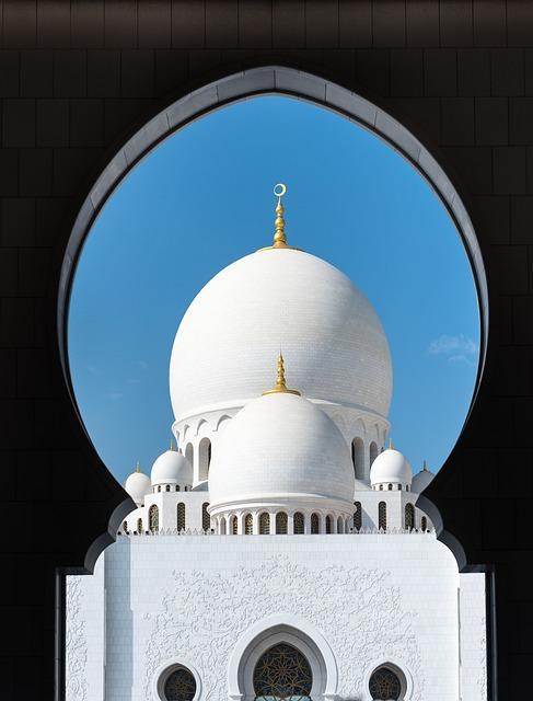 Mosque, Abu Dhabi, Travel, White, Architecture, Orient