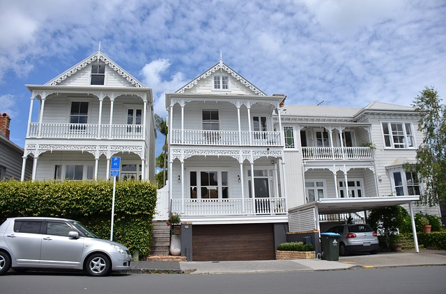 Street, Victorian Houses, Auckland, New Zealand, White