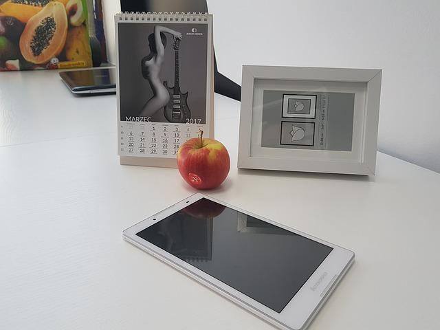 Office, Work Desk, White, Picture Frame, Photo