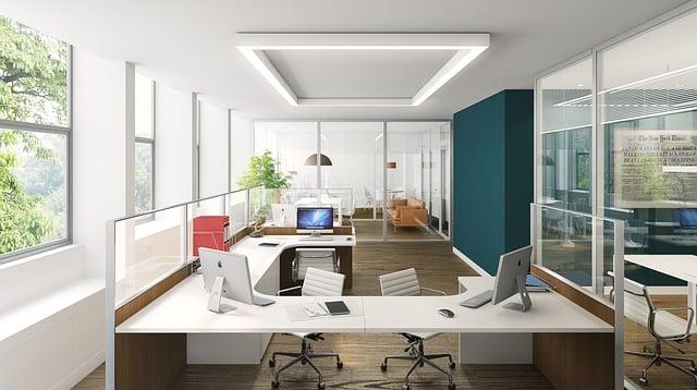 Office, Minimal, Render, 3d, White