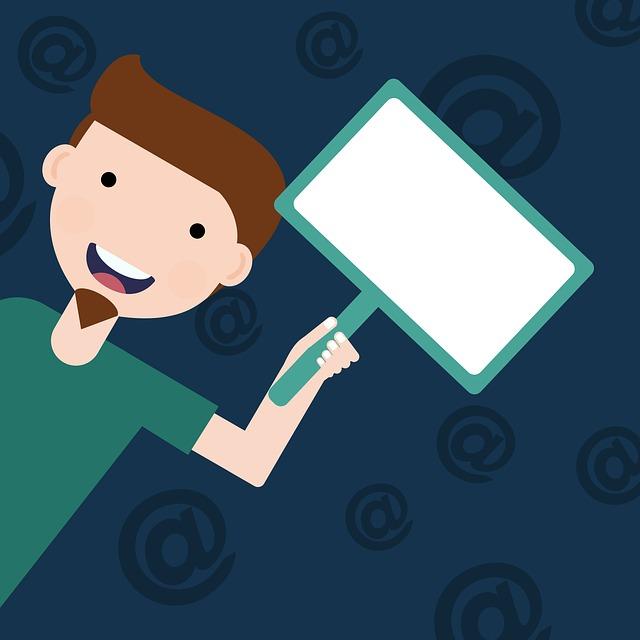 Man, White, Signs, Happy, At, Cartoon, Online Marketing