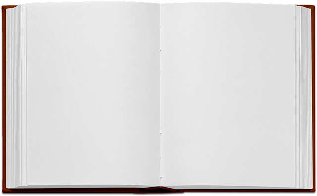 Book, Isolated, Open Book, Empty, Paper, Black, White