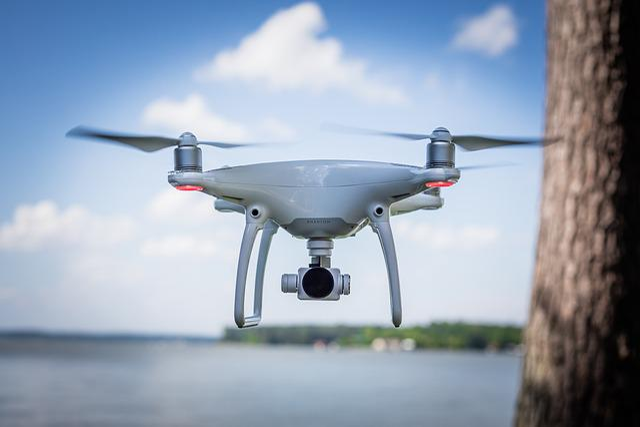 Aircraft, Drone, Phantom 4, Technology, Water, White