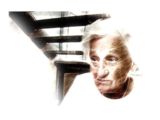 Woman, Old, Face, Portrait, White, Person, Human