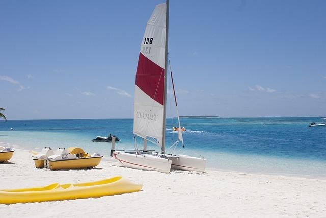 Maldives, Beach, Conrad, Atoll, White Sandy Beach