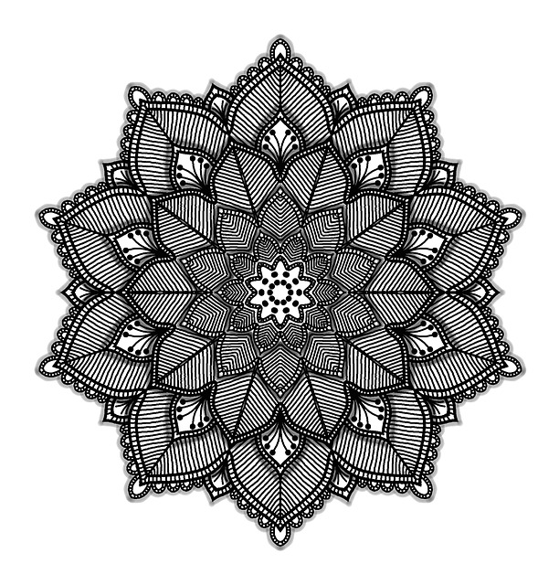 Mandala, Geometric, White, Black, Background, Shape