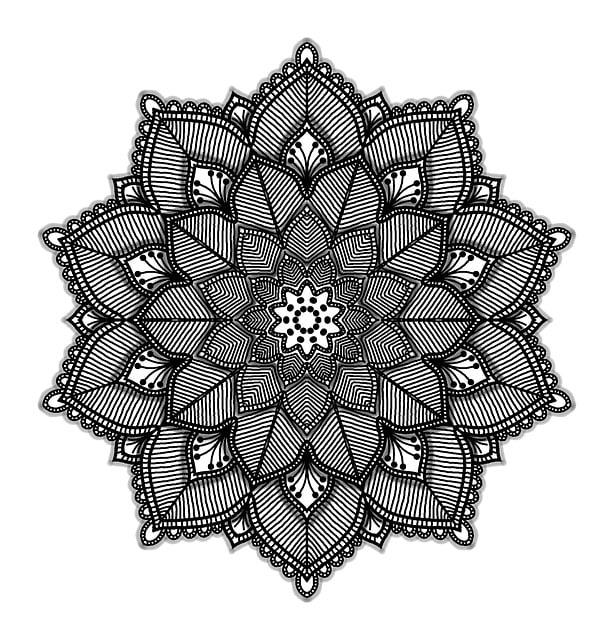 Mandala, Geometric, White, Black, Background, Shape