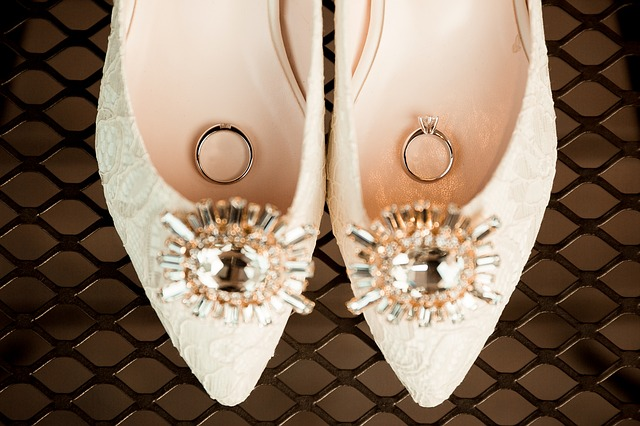 Wedding Shoes, Wedding Rings, White Shoes, Love