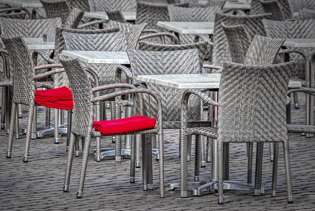 Chairs, Red, Silver, Metal, Dining Tables, White