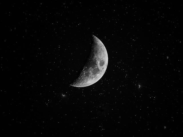 Free Photo White Sky Star Stars Black Cosmos Moon Space