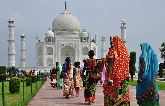 Taj Mahal, India, White-ivory, Agra, Architecture, Trip