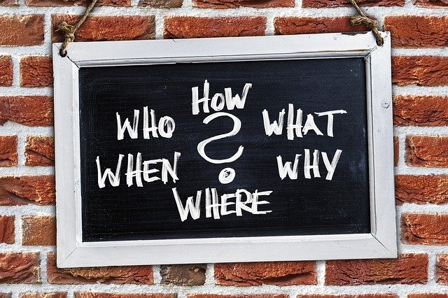 Questions, Who, How, What, Where, When, Why, Board