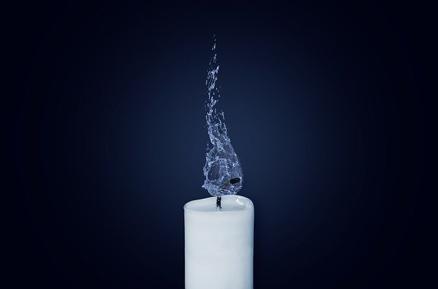 Candle, Flame, Water, Deleted, Delete, Burn, Dark, Wick