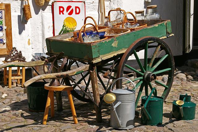 Wicker, Junk, Antique, Old, Flea Market, Used, Antiques