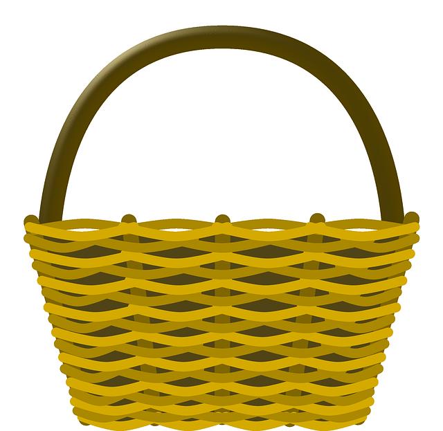 Basket, Shopping, Wicker Basket, Yellow