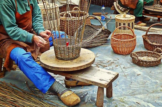 Wickerwork, Basket Weavers, Craft, Wicker Basket