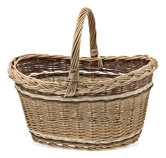 Shopping Cart, Basket Wicker, Wicker, Baskets