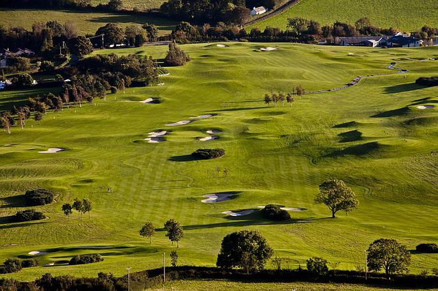Golf Course, Glen Of The Downs, Wicklow, Ireland