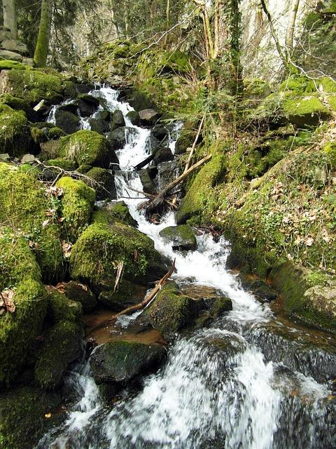 Waterfall, Wieladingen, Murg Valley, Black Forest