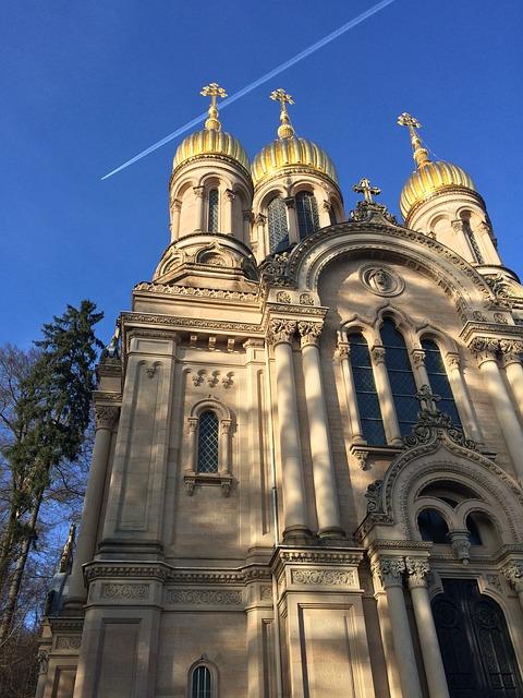 Wiesbaden, Neroberg, Church, Gold, Russian Orthodox