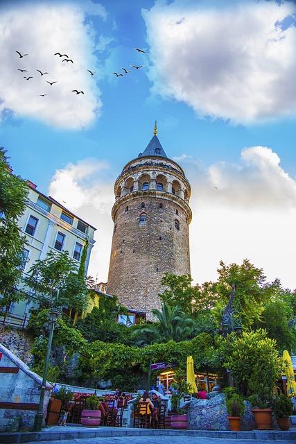 Wiev, Tower, Landscape, Istanbul, Sky, Light, Turkey