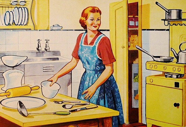 Retro, Housewife, Family, Cooking, Kitchen, Wife, Woman