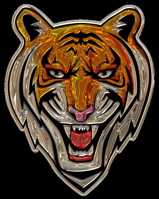Tiger Head, Metallizer, Png, Art, Wilderness, Factory