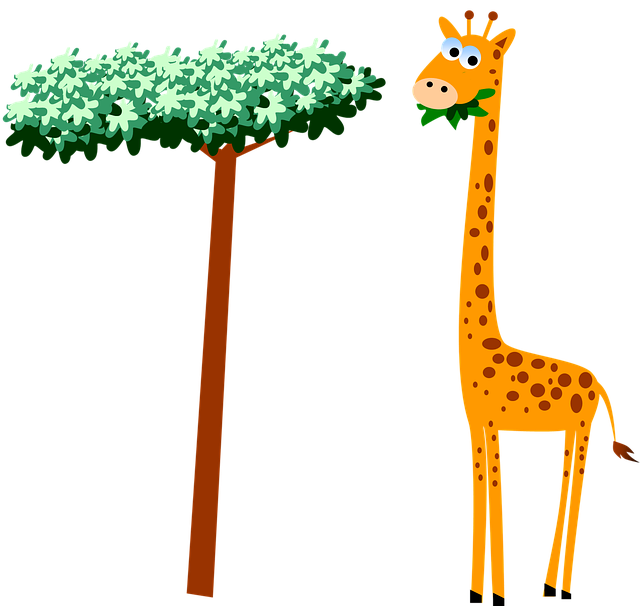 Giraffe, Neck, Cartoon, Wildlife, Safari, Animal