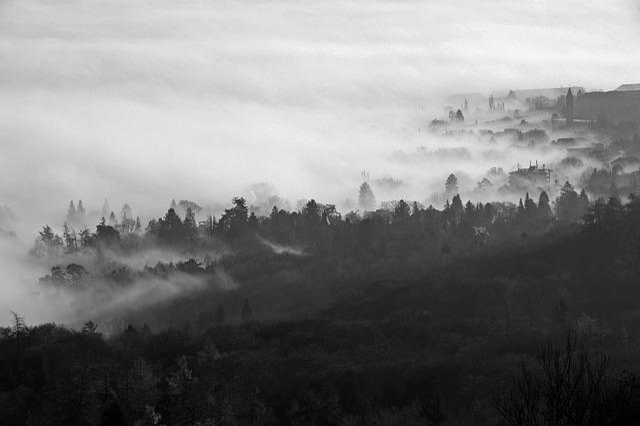 Kassel, Fog, Mountain Park, Wilhelmshöhe