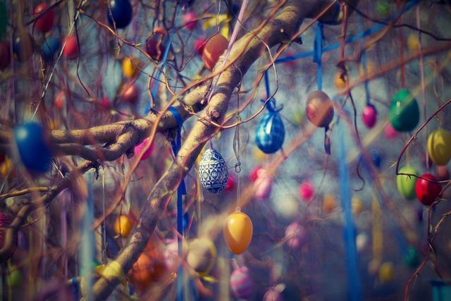 Easter Eggs, Easter, Tree, Willow, Eggs, Spring