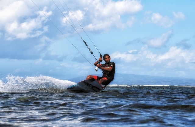 Kite Surfing, Bali, Sanur, Aquatics, Action, Wind