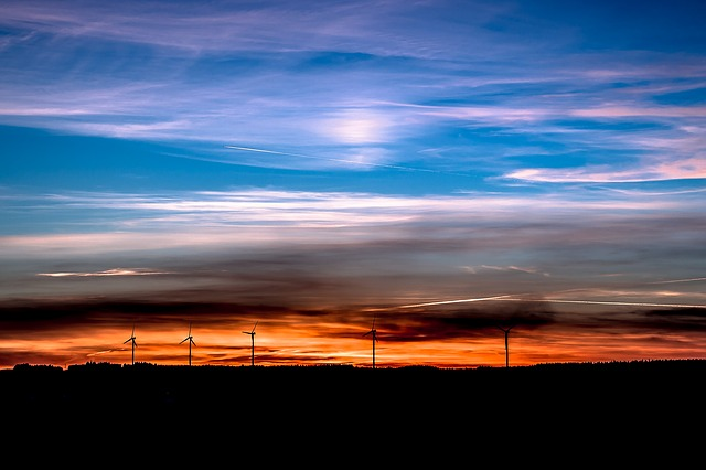 Sunset, Wind Energy, Renewable Energy, Wind Power