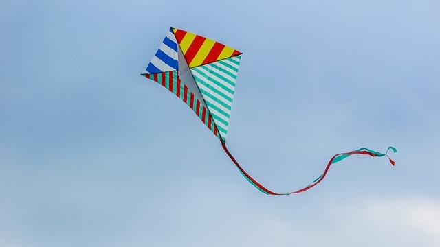 Kite, Fly, Wind, Fun, Blue Fun