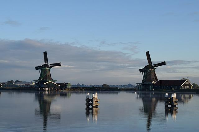 Mill, Lake, Reflection, Holland, Water, Windmill, Wind