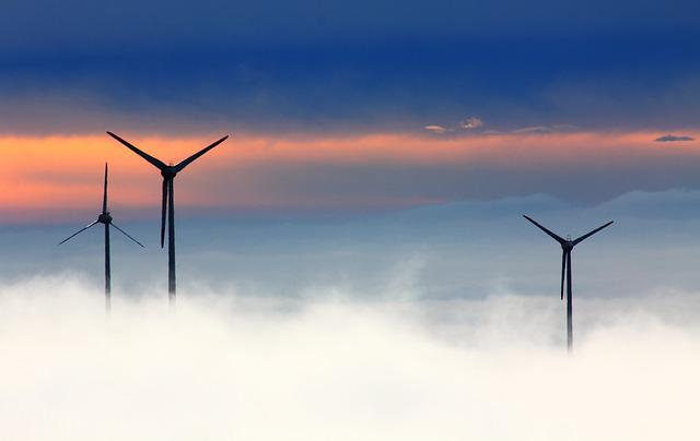Windräder, Wind Power, Wind Park, Fog, Wind Energy