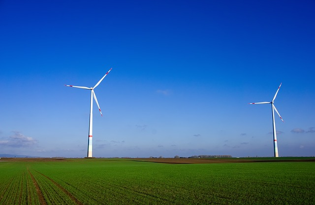 Windräder, Wind Power, Energy, Blue