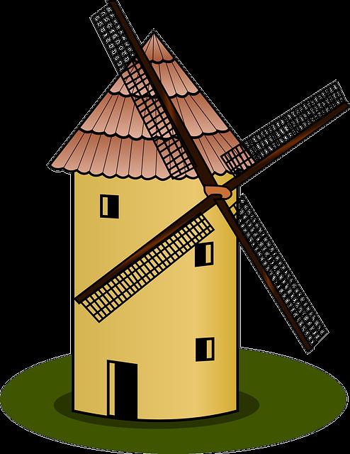 Windmill, Mill, Wind Power, Farm