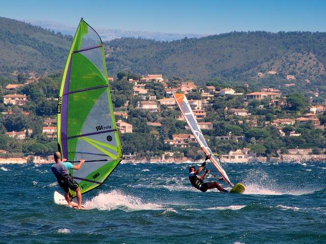 Windsurf, Wind Surfers, Aquatics, South Of France