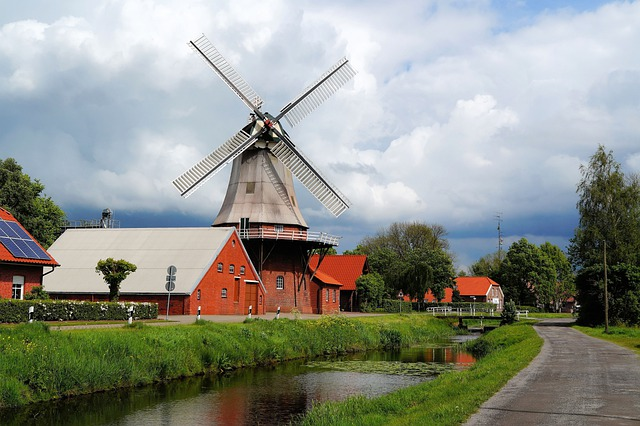 Mill, Windmill, Wing, Architecture, Flour Mill, Grind