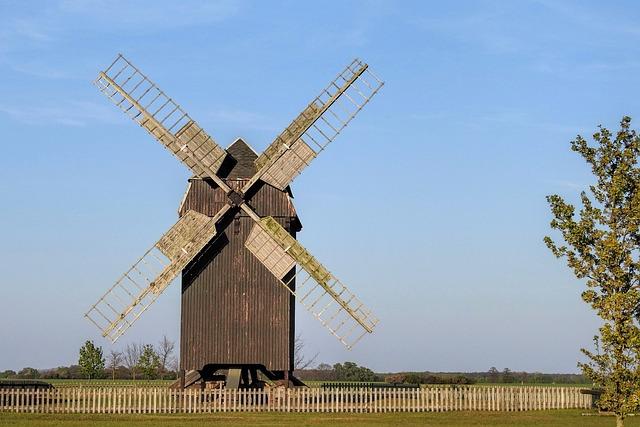 Post Mill, Windmill, Sky, Farm, Mill