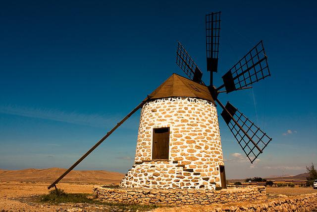 Windmill, Fuerteventura, Tefia, Tourist Attraction