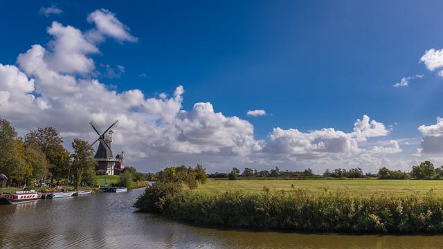 Greetsiel, Windmills, Channel, Windmill, East Frisia