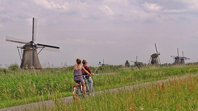 Netherlands, Kinderdijk, Windmills, Holland