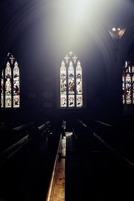 Church, Window, Benches, Church Window, Architecture